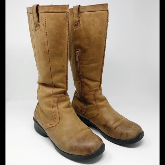 Keen Waterproof Tyretread Tan Leather Boots 9.5